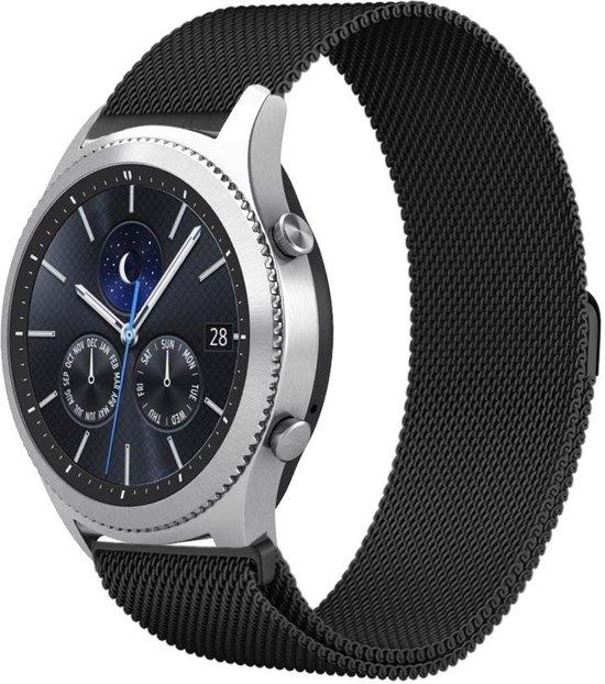 AA Milanese Horloge Band Voor de Samsung Gear S3 (Frontier & Classic) - Watchband - Armband Roestvrij StaalMilanees bandje - Samsung Gear S3 - Zwart