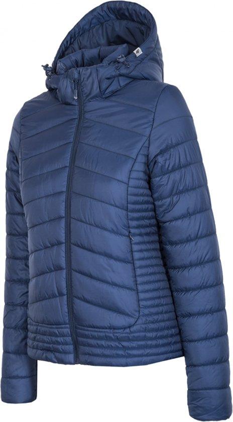 4F Women's Jacket H4Z17-KUD004NAVY, Vrouwen, Marineblauw, Sportjas maat: L