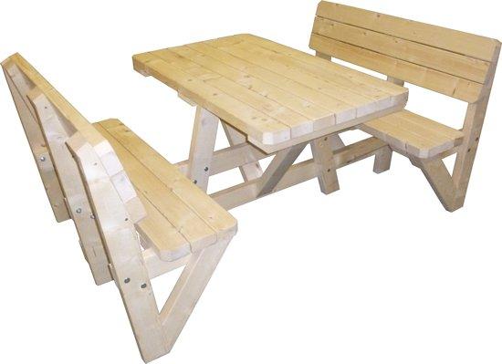 Woodkit.nl Picknicktafel met rugleuning bouwpakket