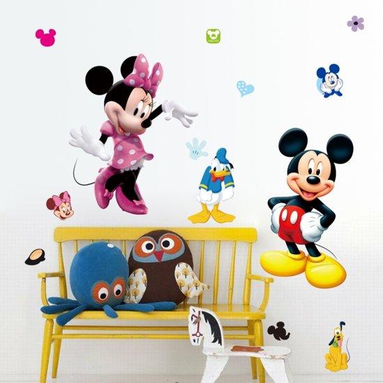 Extreem bol.com | Muursticker Mickey en Minnie Mouse | babykamer OU94