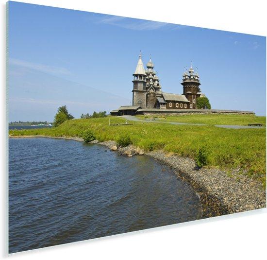 Het Russische eiland Kizji naast het Onegameer in Europa Plexiglas 60x40 cm - Foto print op Glas (Plexiglas wanddecoratie)