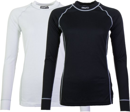 Craft Active 2-Pack Tops Thermoshirt Dames - Black/White - M