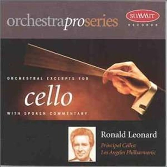Orchestral Excerpts for Cello With Spoken Commentary