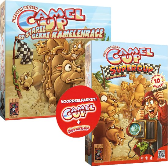 Voordeelpakket Camel up basisspel + Camel Up Supercup Uitbreiding Bordspel