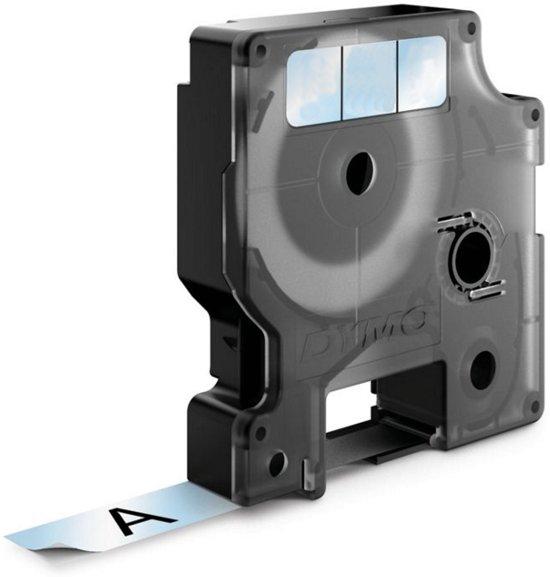 DYMO S0720820 labelprinter-tape  zwart op transparant