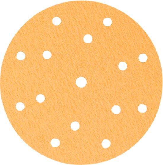Colad velcro schuurschijven 150 mm; PREMIUM 8+6+1 gaten P80 - 100 stuks