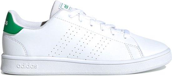 adidas Advantage Sneakers - Maat 38 2/3 - Unisex - wit/groen