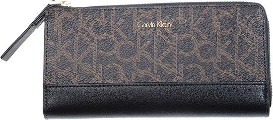 2c44eea9374 Calvin Klein - Frame - large ziparound S monogram - dames portemonnee -  brown