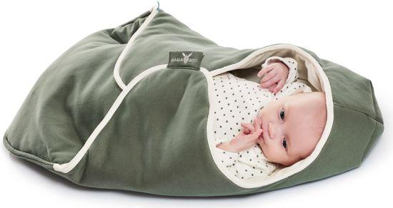 Wallaboo Babydeken Coco handige wikkeldeken en wrapper zacht katoen geschikt voor autostoel, kinderwagen, ledikant en box pasgeboren tot 9 mnd