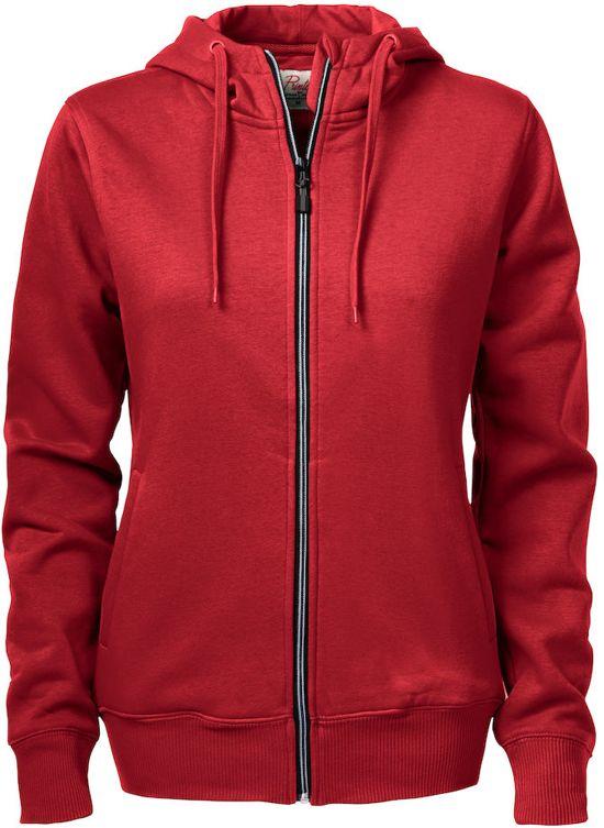 Printer hooded sweat jacket Overhead lady - 2262052 - Rood - maat XL