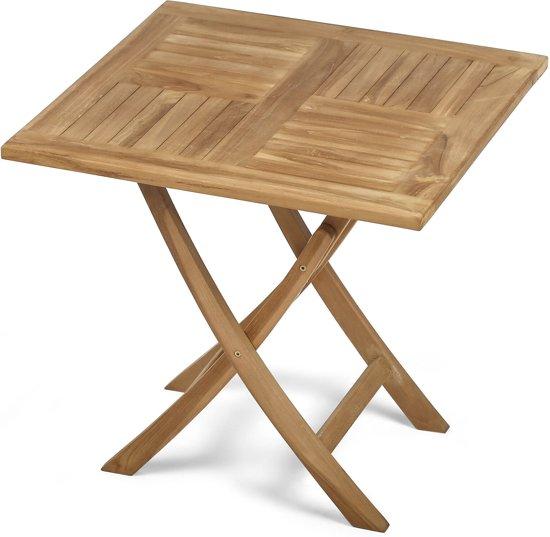Teak houten klaptafel 80 x 80 x 75 cm - Klaptafel ...