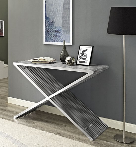 Rvs Side Table.Sidetable Haltafel Rvs Staal Design Inoxtia 125 Cm Breed