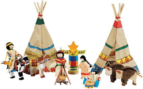 Indianen Speelset - 14-delig