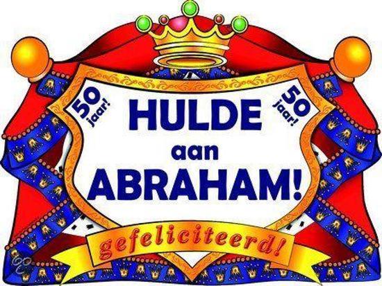 Uitzonderlijk bol.com | Huldeschild Kroon - Abraham 50 jaar, Paper dreams  AM-64
