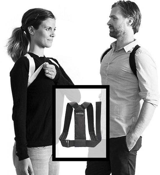Posture Flexi Corrector - Postuur en houdingtrainer -  S/M - zwart