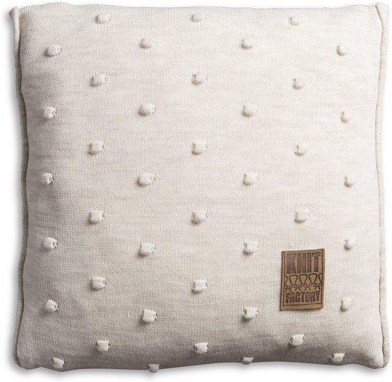 Knit Factory Noa - Kussen - 50x50 cm - Beige