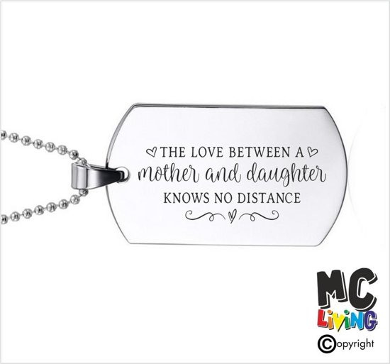 Ketting RVS - The Love Between a Mother And Daughter