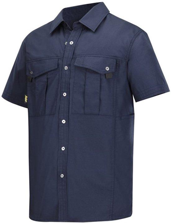 Snickers Rip Stop Shirt korte mouwen - 8506-9500 - navy - maat L