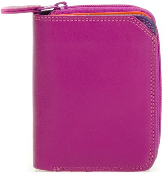 723dbe877df Mywalit Small Wallet met Zip Around Purse - damesportemonnee - Sangria Multi