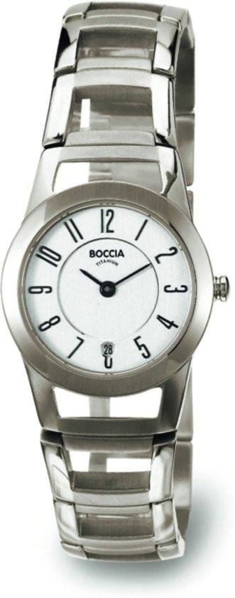 Boccia Titanium 3140-01 Horloge - Titanium - Zilverkleurig - 28 mm