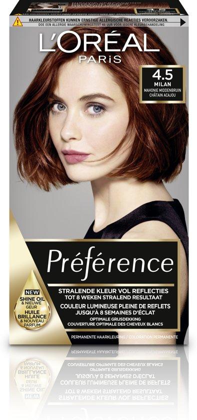 New bol.com | L'Oréal Paris Préférence 4.5 - Mahonie Middenbruin  &OM01