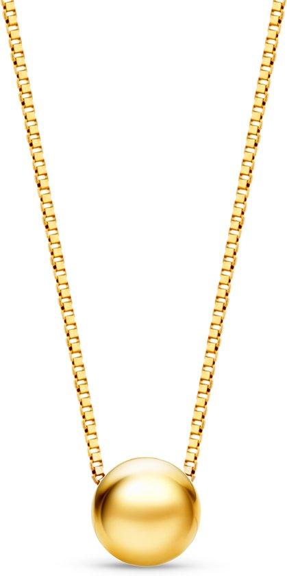 Majestine 9 Karaat Collier Geelgoudkleurig (375) met Bol – Ketting 45cm