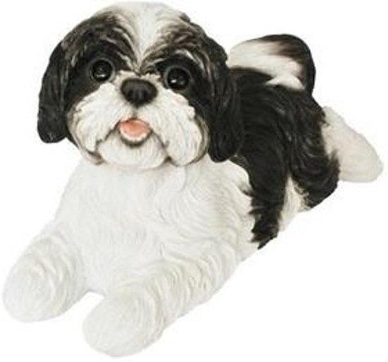 bol | beeldje liggende zwarte boomer hond 19 cm