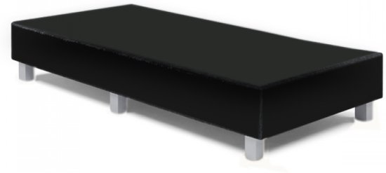 Boxspring 80x200 Skai zwart