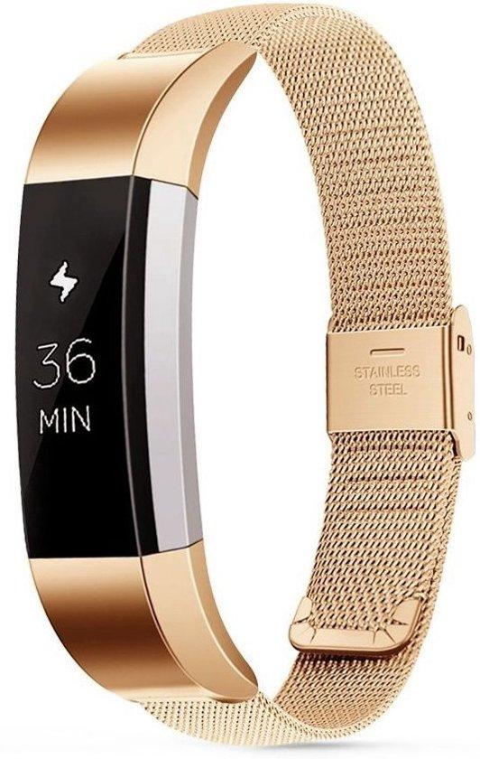 Just in Case Fitbit Alta / Alta HR Milanees armband - Retro Gold