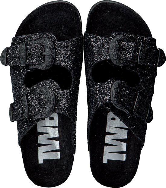 The White Brand Dames Slippers Bio Buckle -