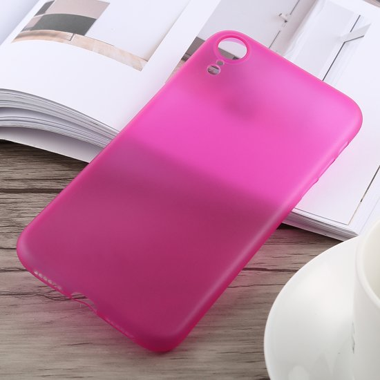 0,3 mm Ultradun Frosted PP-hoesje voor iPhone XR (Rose Red)