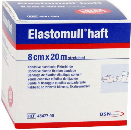 Elastomull Haft, fixatiewindsel, 8cm x 20m, per rol