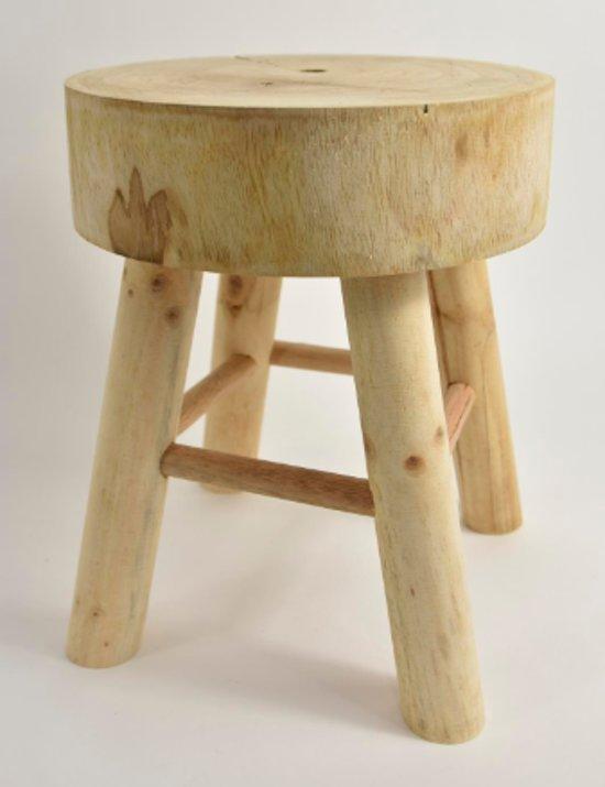 Krukje | Plantentafeltje | Hout | Boomstam | Boomschors | 30x33 cm | natuurlijk | oud hout | old look
