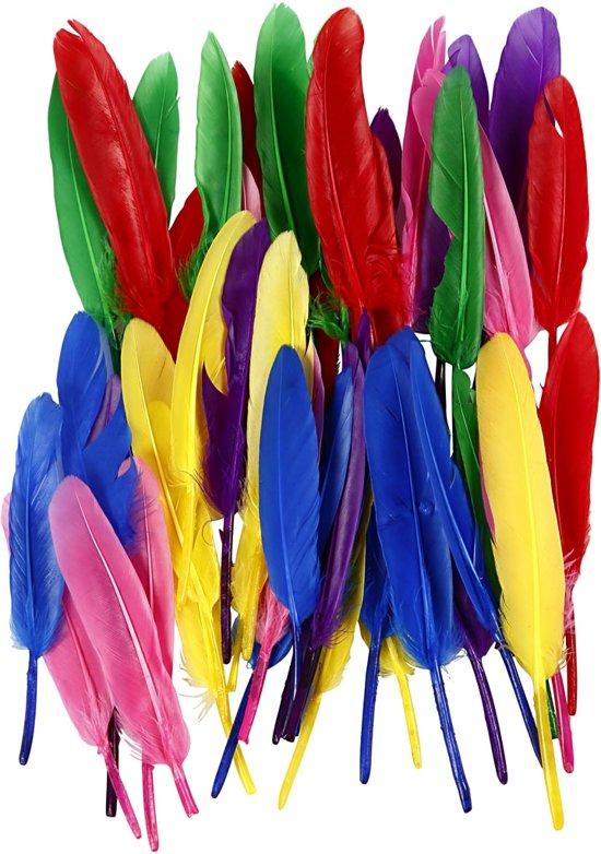 Veren, l: 13 cm, kleuren assorti, 48div