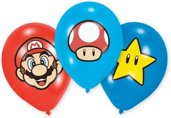6 Latex Balloons Super Mario Bros 27 5 cm/11
