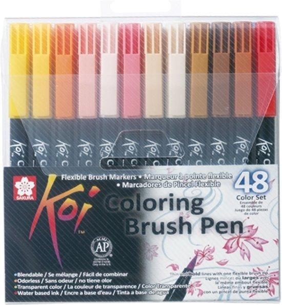 Koi Coloring Brush Pen 48 kleuren