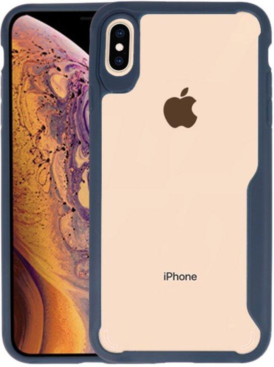 Focus Transparant Hard Cases iPhone XS Max Navy