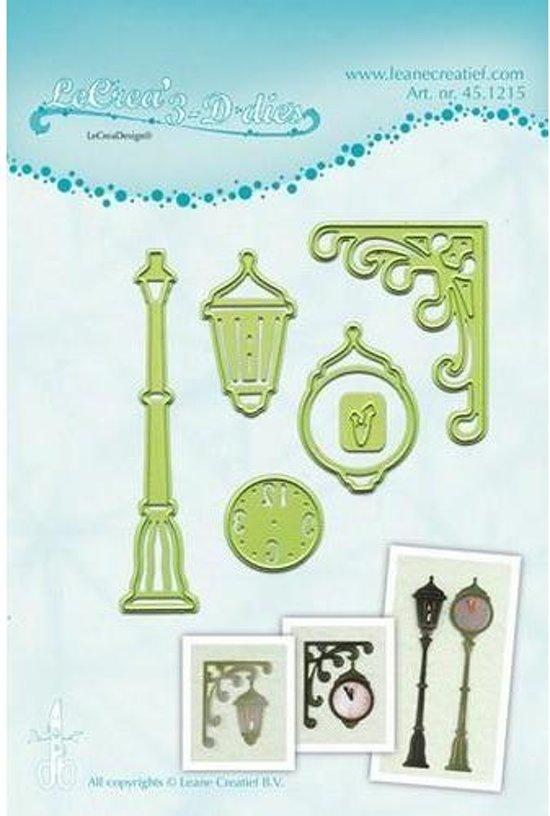LeCrea - Leabilitie Clock & lantern snij en embossing mal 45.1215