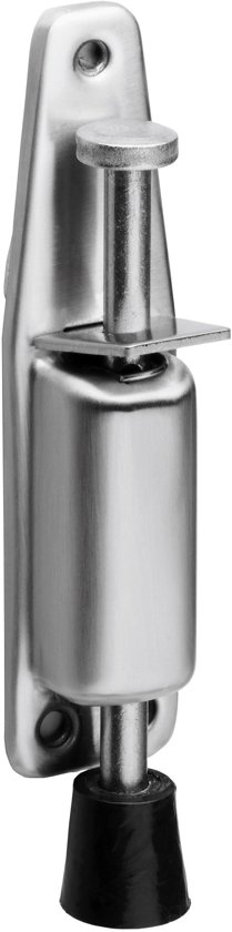 Intersteel deurvastzetter - met voetrem klein - 142x32mm - RVS - 0035.444010