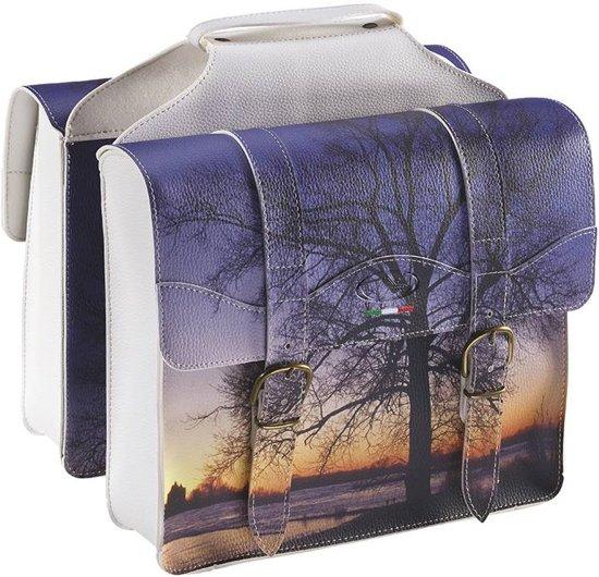 Selle Monte Grappa Sunset Dubbele Fietstas - Kunstleer - 29 Liter - Blauw / Wit
