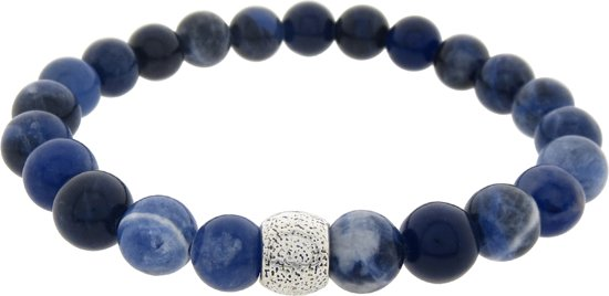 Armband edelsteen sodaliet blauw