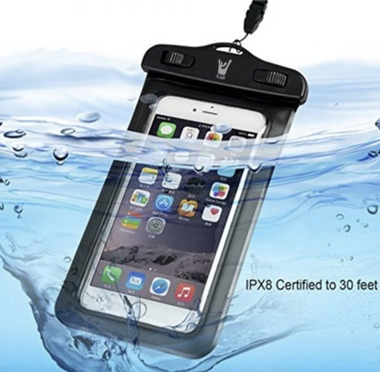 Waterdichte Hoesje voor alle Telefoons tot 6 inch – Waterdicht tot 10 meter - Waterproof Case / Pouch – voor onder andere Apple iPhone 8 (Plus) / 7 (Plus) / 6/6s (Plus) / 5/5S/5C/SE / Samsung Galaxy S7 / S6 (Edge) / Huawei P10 (Lite)