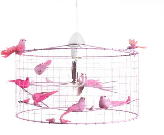 Kinderkamer Lamp Roze : Bol hanglamp kinderkamer met vogeltjes vichy