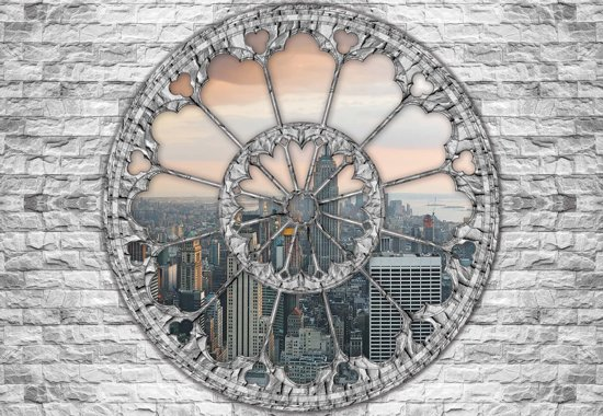 Fotobehang View New York Skyline Empire State | L - 152.5cm x 104cm | 130g/m2 Vlies