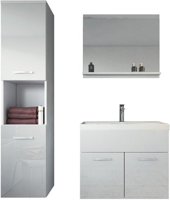 Bol badplaats badkamermeubel montreal cm wit complete