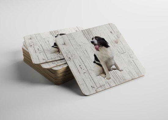 Hond Landseer ECT | Houten Onderzetters 6 Stuks