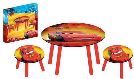 Ronde tafel met 2 krukjes Cars