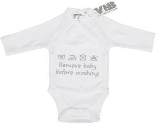 VIB Rompertje - Remove Baby Before Washing - Wit