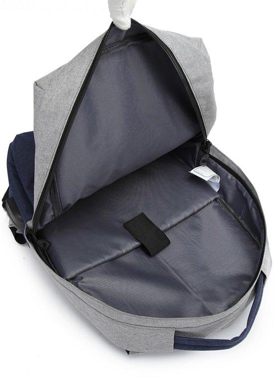 Diefstal 15 Laptop Theft Inclusief blauw Schooltas Oplaadstation 6 Grijs Gy Inch RugzakAnti Business Konoe6891 be Usb Taswaterbestendige 0mNwv8nO