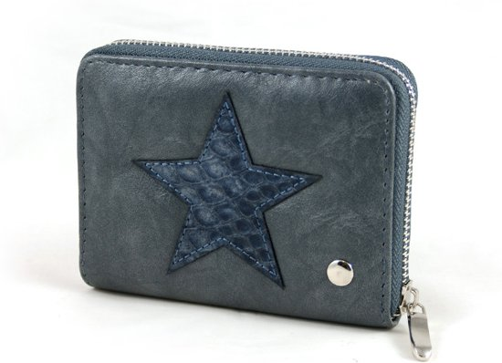 f1cf52d0a7a bol.com   Kleine portemonnee blauw met ster blingdings